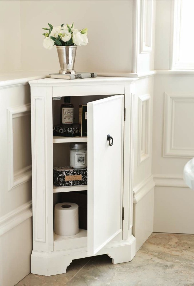 Corner Bathroom Floor Cabinet