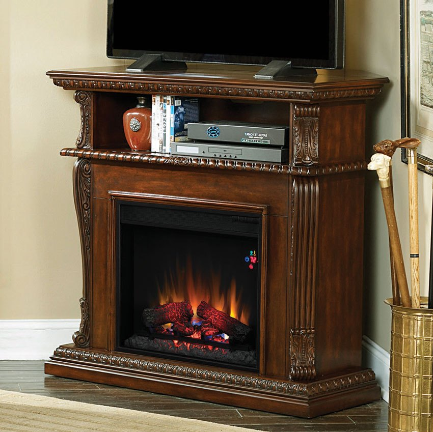 Corner Fireplace Electric Tv Stand