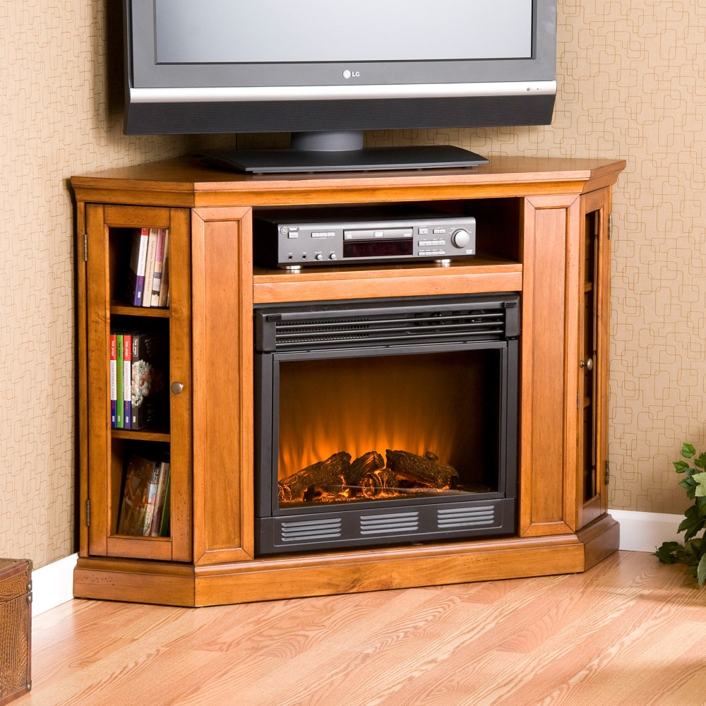 Corner Gas Fireplace Tv Stand