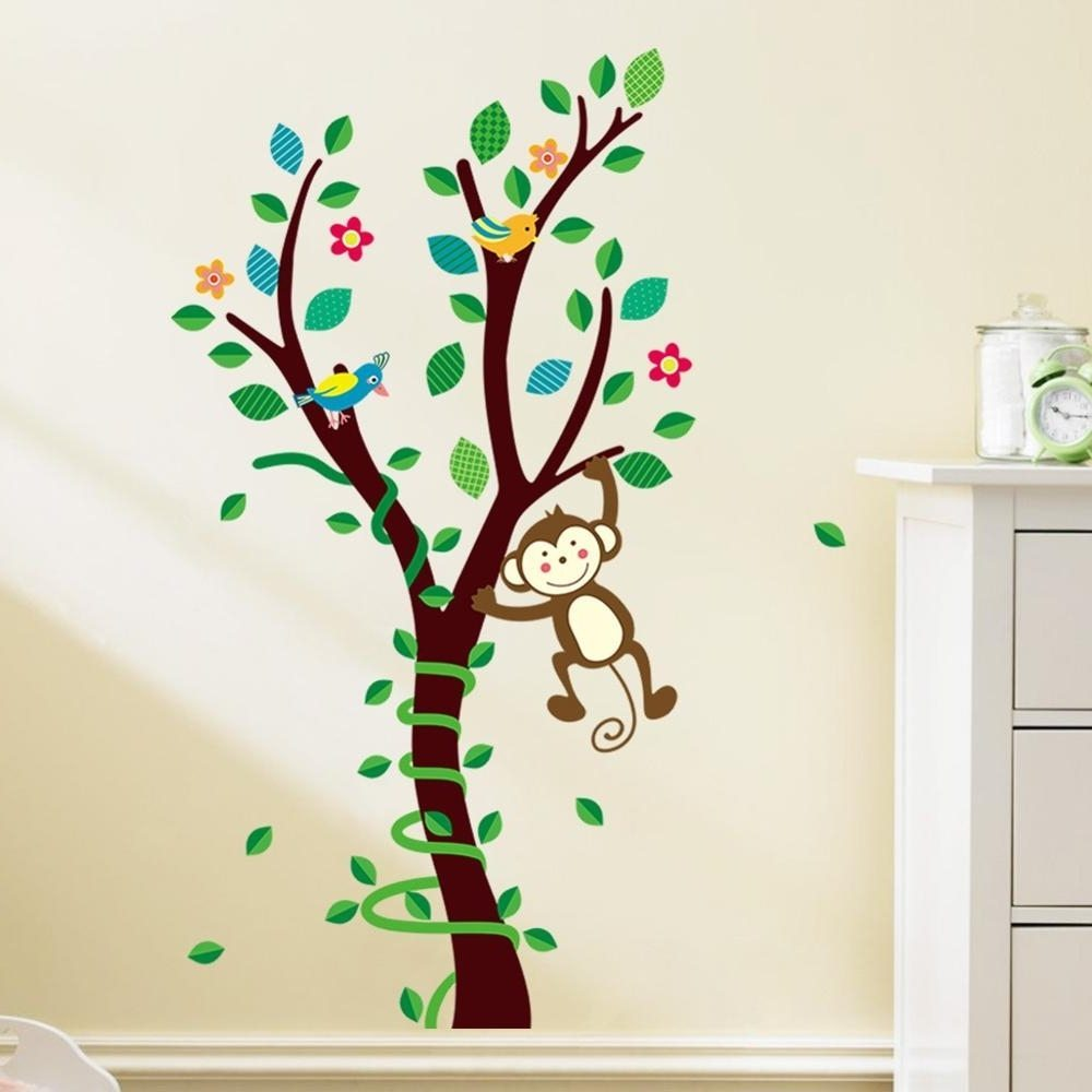 Corner Tree Wall Decals For Nursery