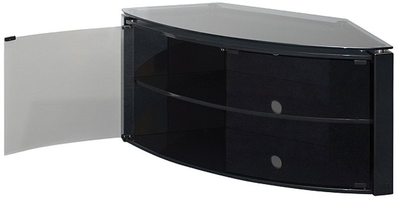 Corner Tv Stand Black Glass