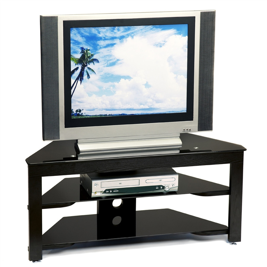 Corner Tv Stand Black Wood