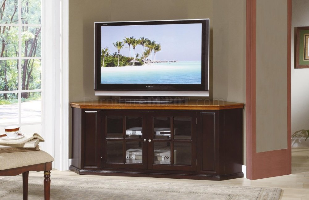 Corner Tv Stand Espresso Finish