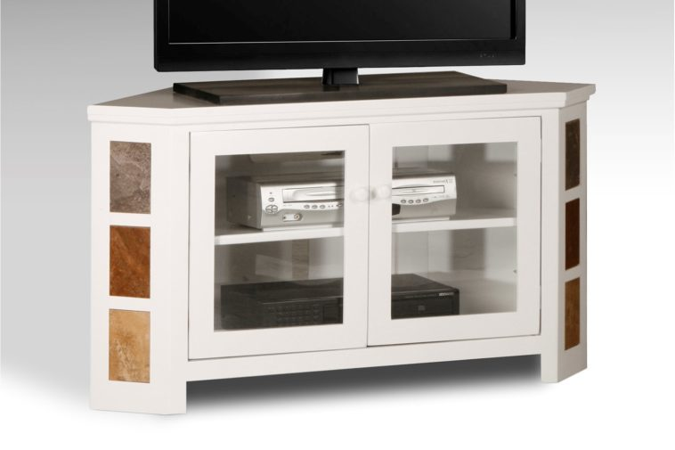 Corner Tv Stand Glass Doors
