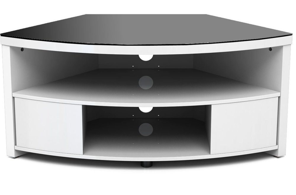 Corner Tv Stand White Gloss