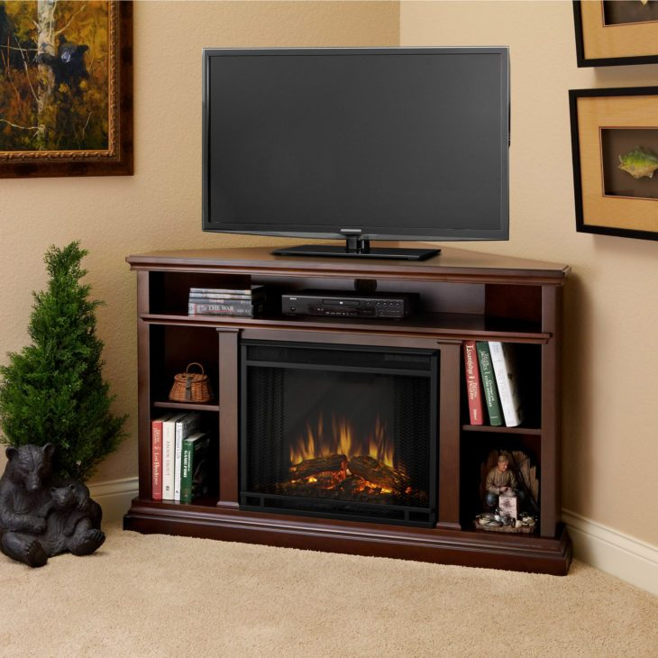Corner Tv Stands With Fireplace