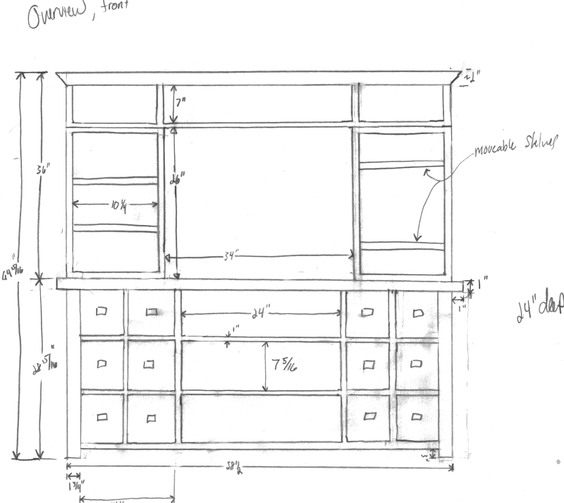 Craftsman Style Tv Stand Plans