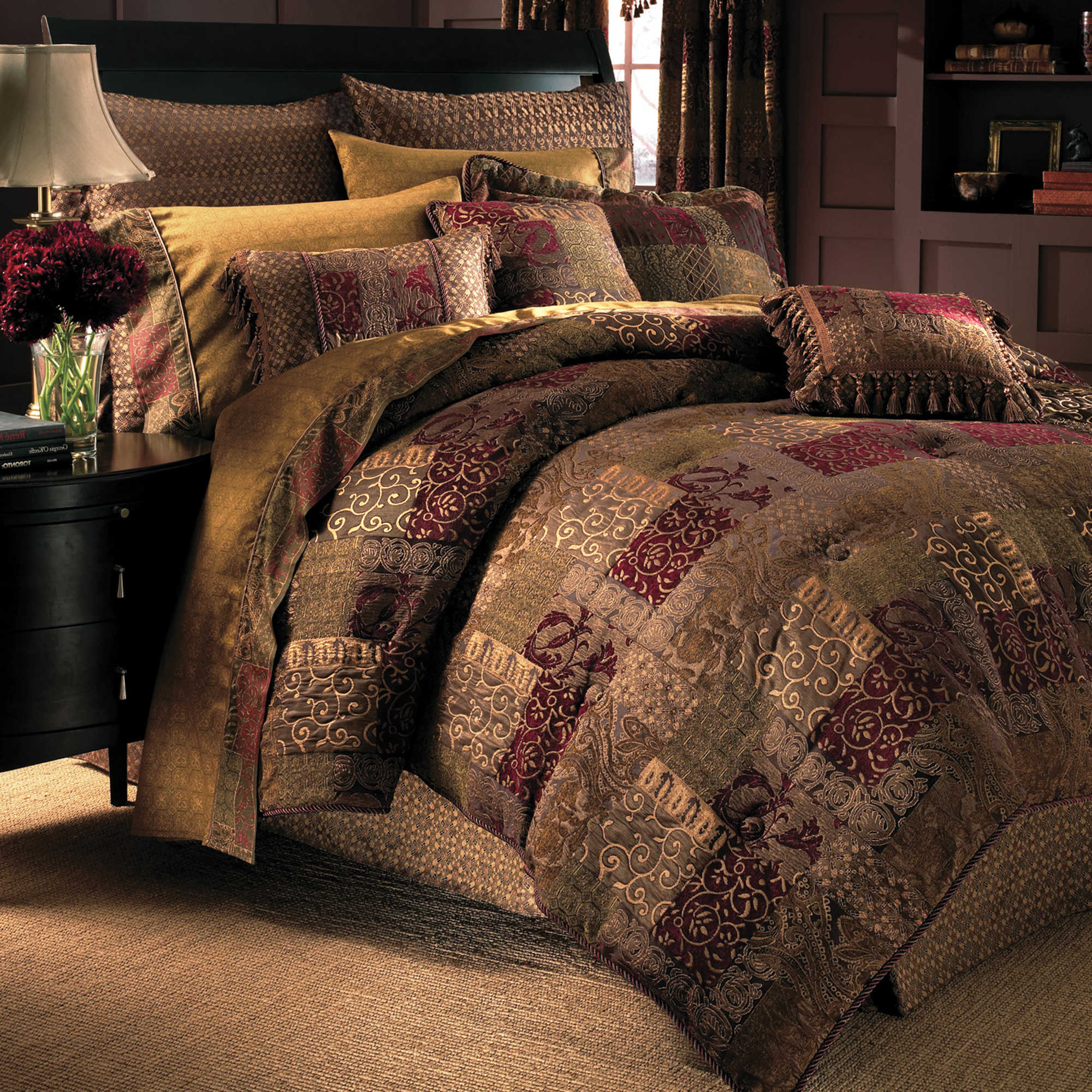 Croscill Galleria Comforter Set Queen Red