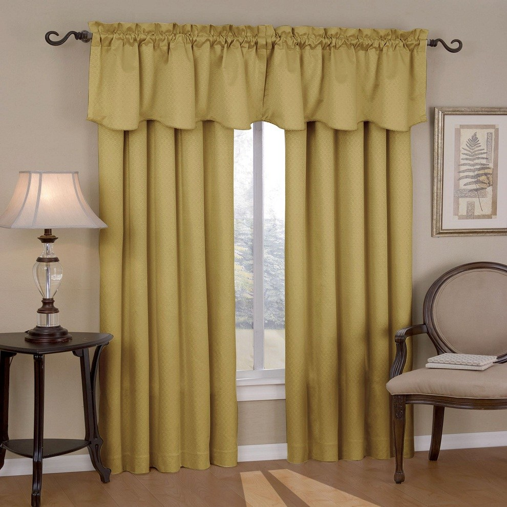 Curtain Rod For Valance And Drapes