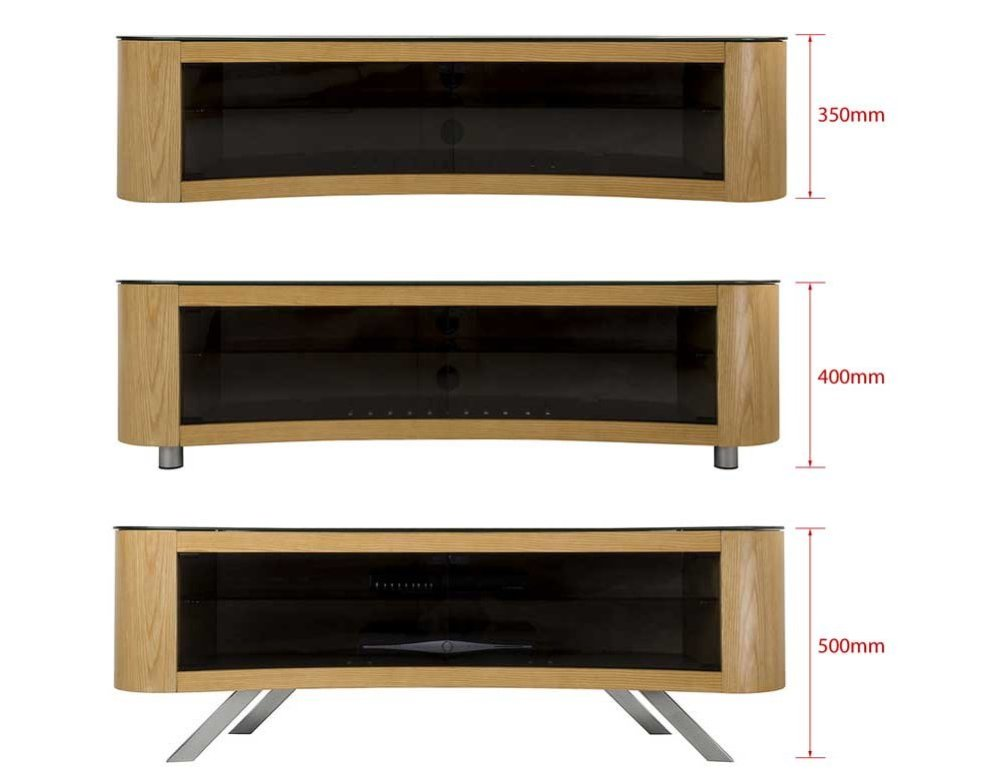 Curved Tv Stand Oak