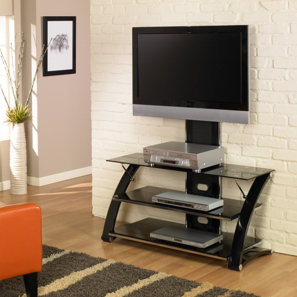 Curved Tv Stand With Mount