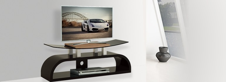 Curved Tv Stand Wood