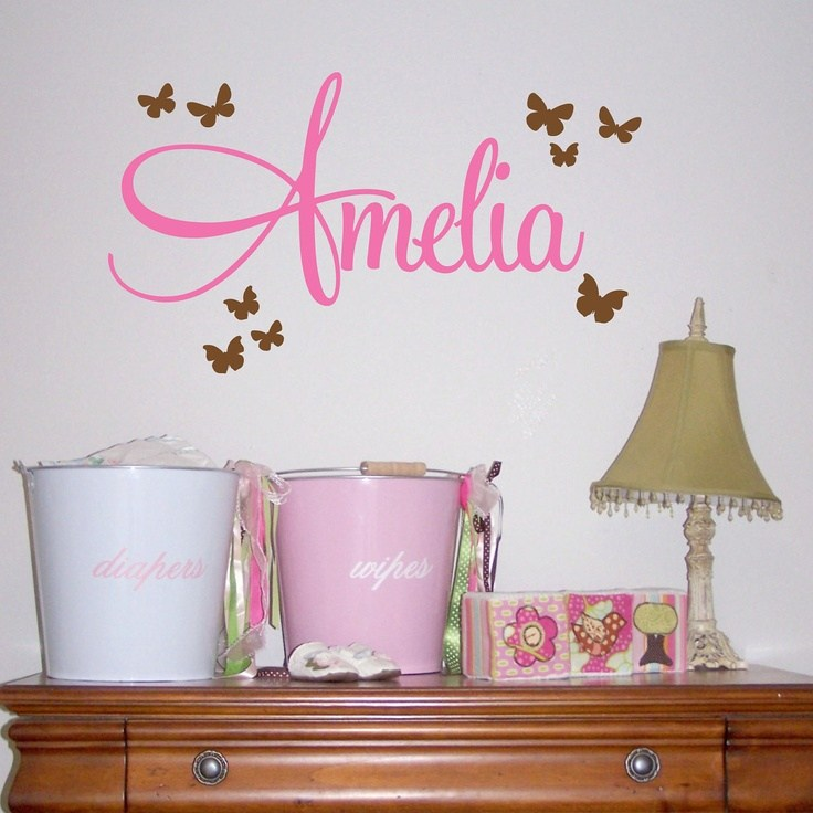 Custom Name Wall Decals For Nursery