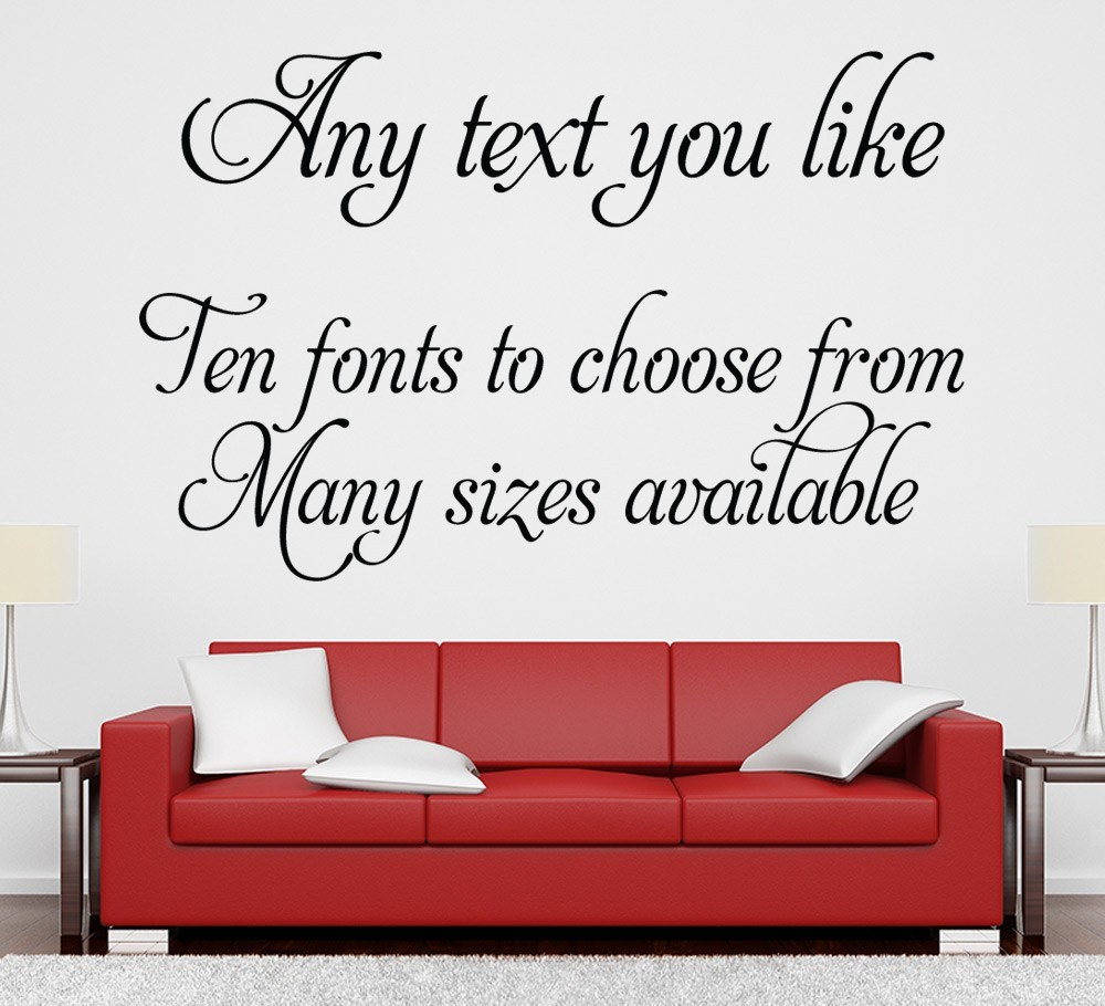 Custom Text Wall Decals