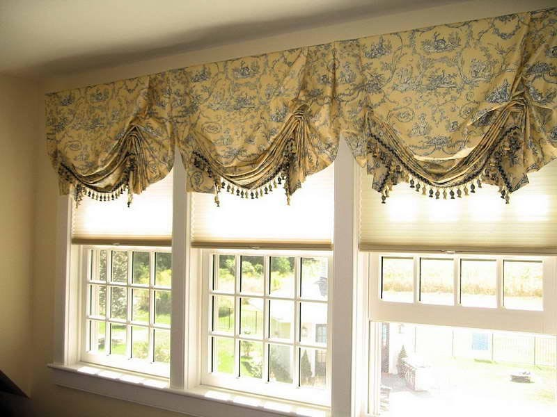 Custom Valances For Bay Windows