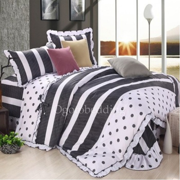 Cute Black And White Comforter Sets
