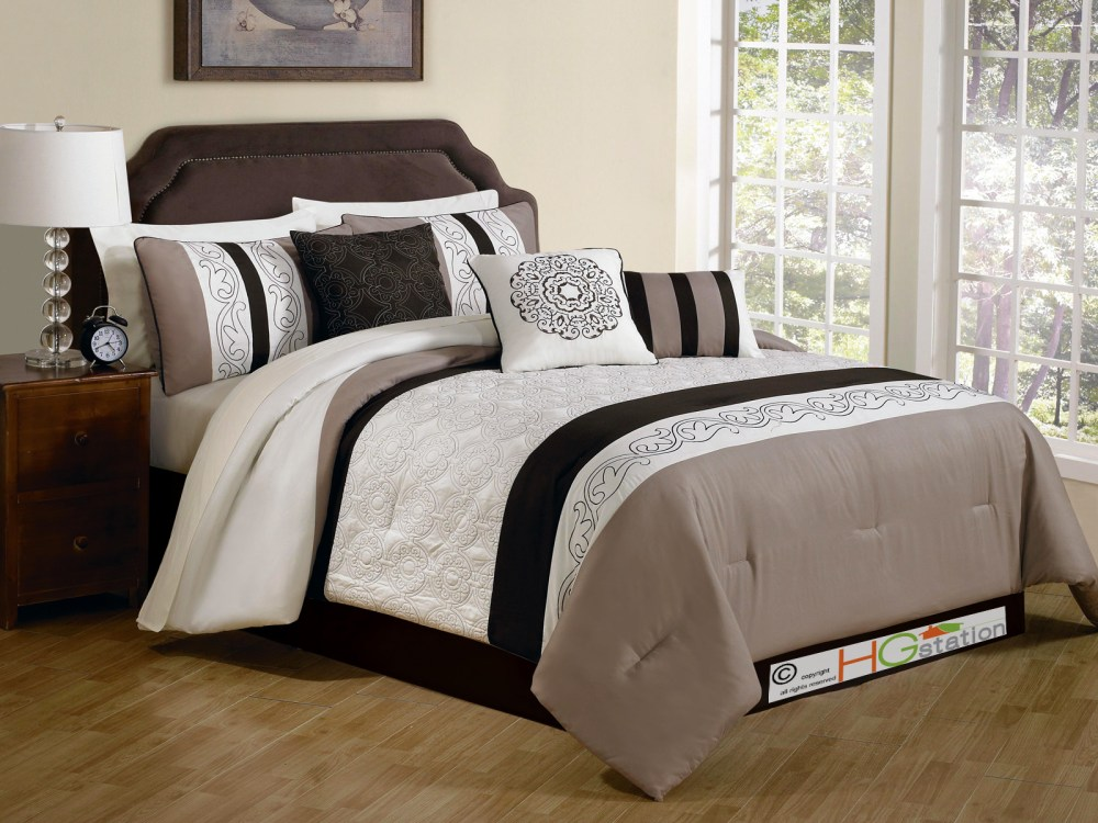 Damask Comforter Sets Queen