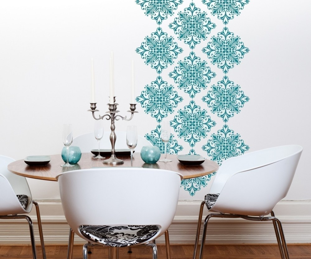 Damask Vinyl Wall Decals