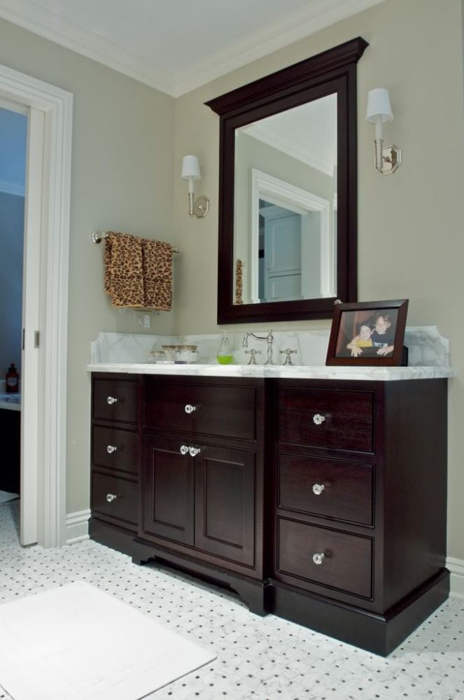 Dark Brown Bathroom Cabinets