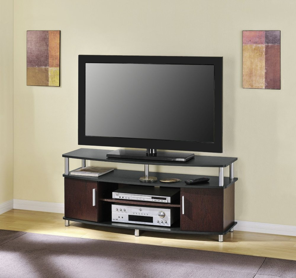 Dark Cherry Wood Tv Stand