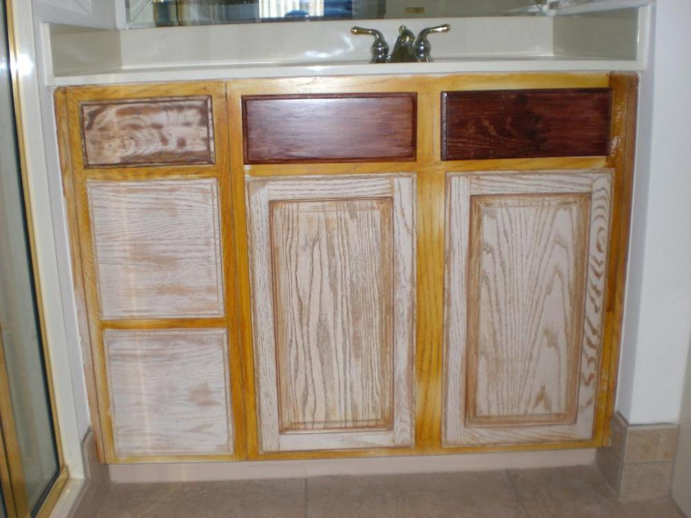 Dark Oak Bathroom Cabinets