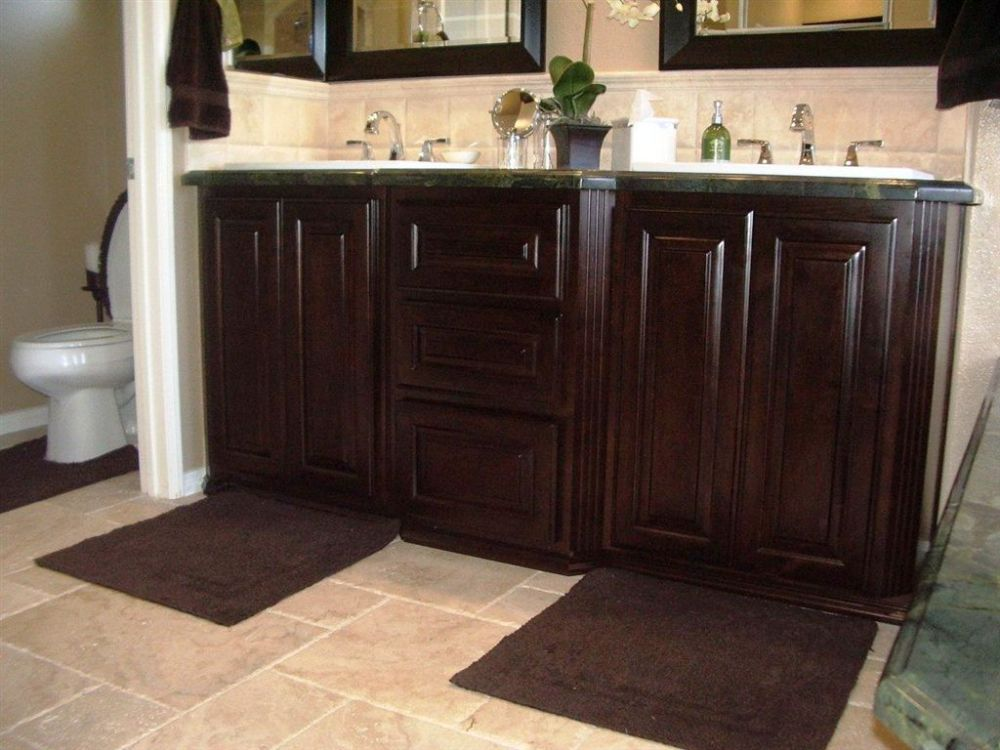 Dark Wood Bathroom Cabinets