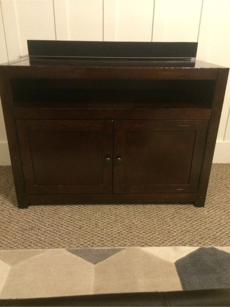 Dark Wood Tv Stand For Sale