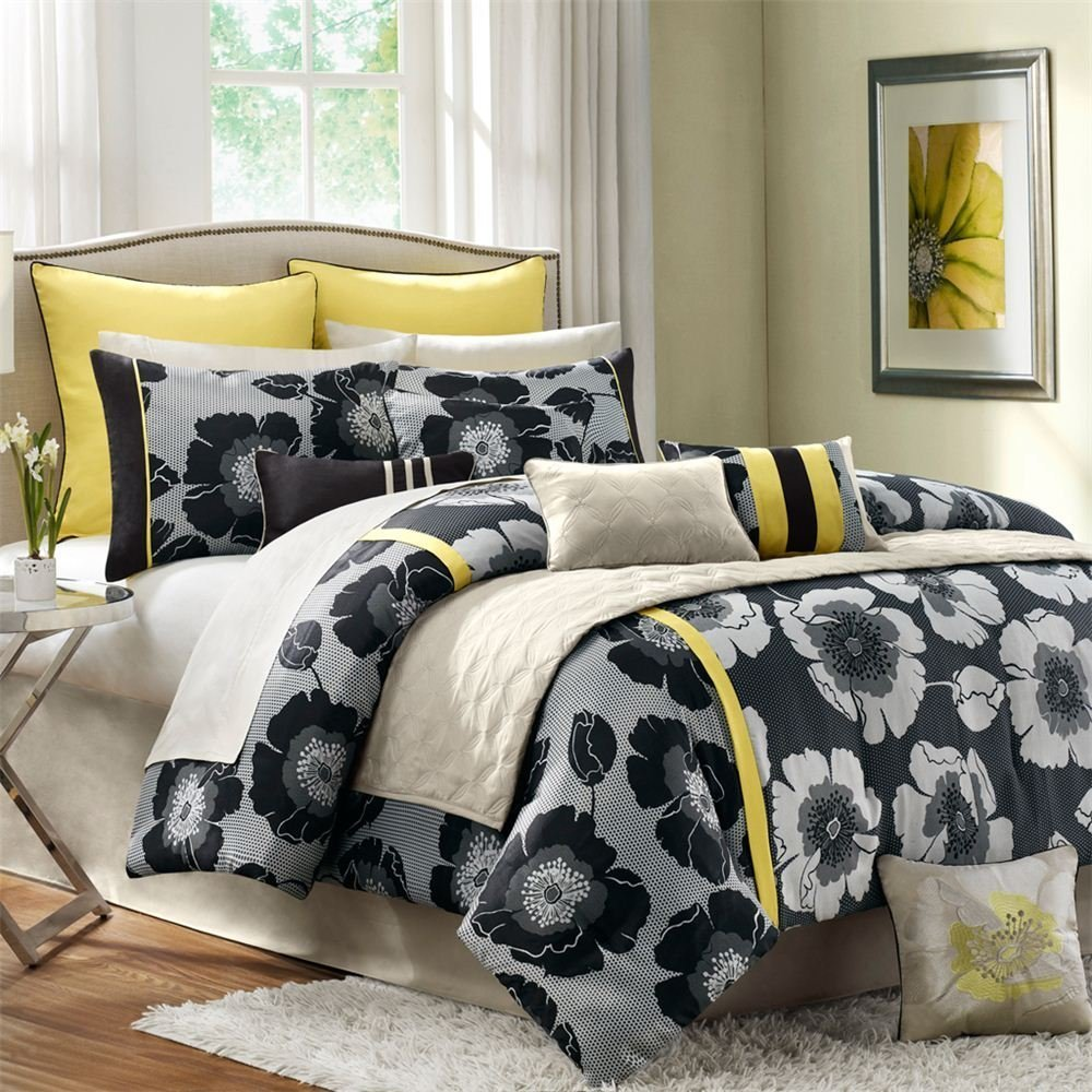 Dawson Black And Gold Comforter Set