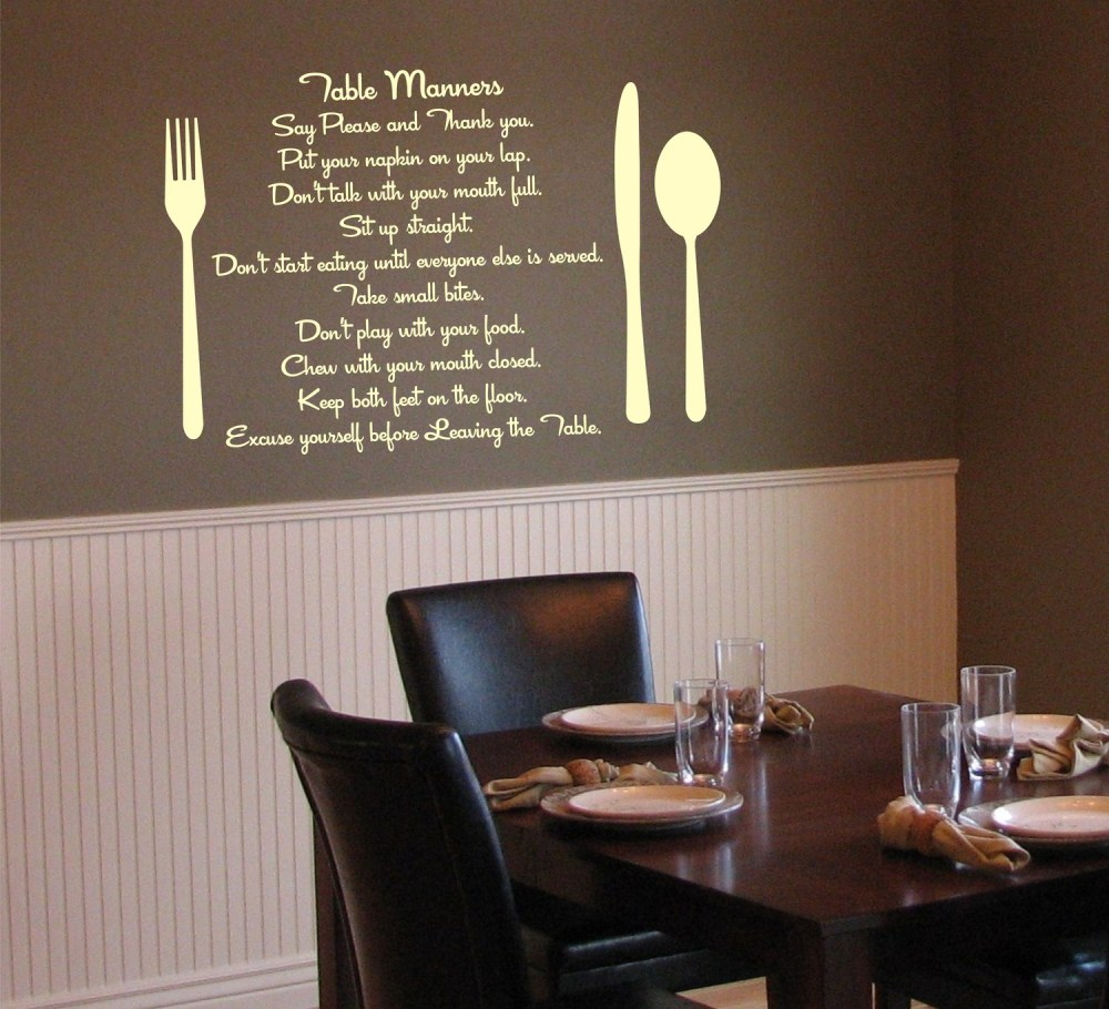 Dining Room Wall Decals