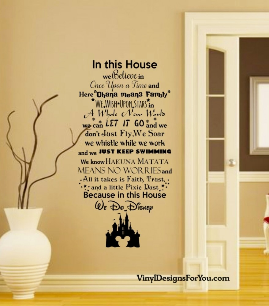 Disney Quote Wall Decals