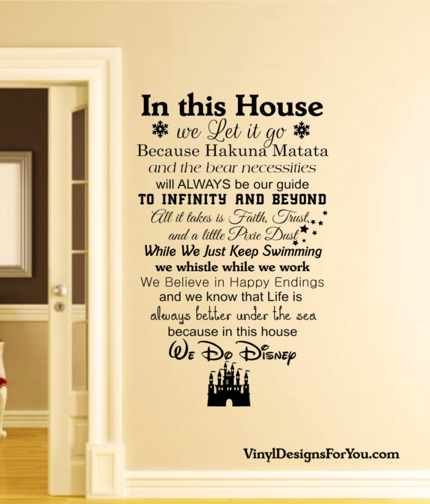 Disney Wall Quotes Decals