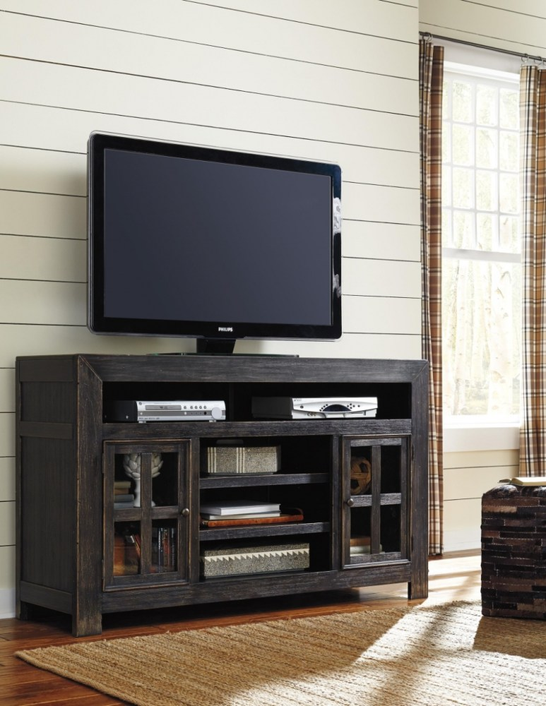 Distressed Black Tv Stand