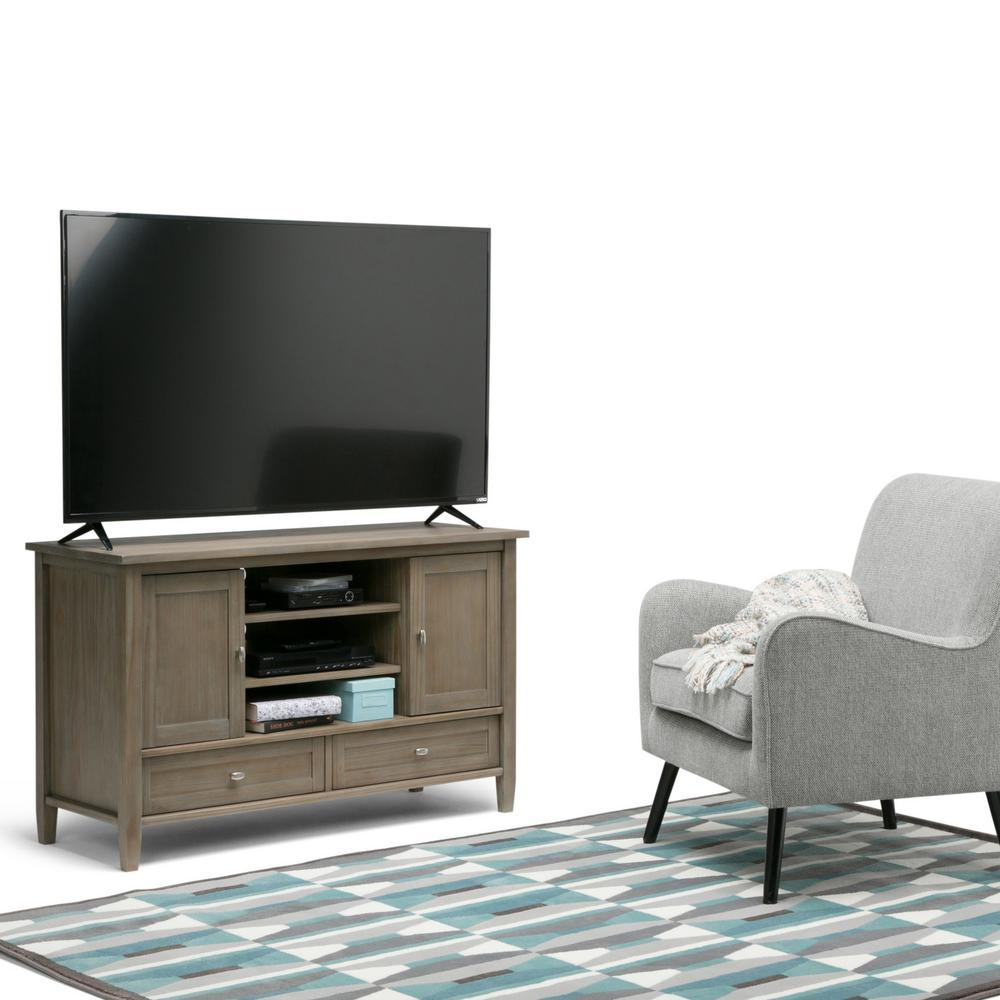 Distressed Grey Tv Stand