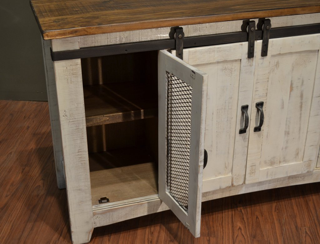 Distressed White Tv Stand