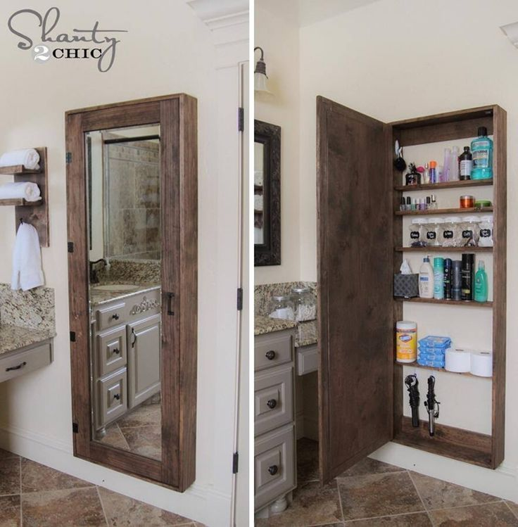 Diy Bathroom Mirror Cabinet