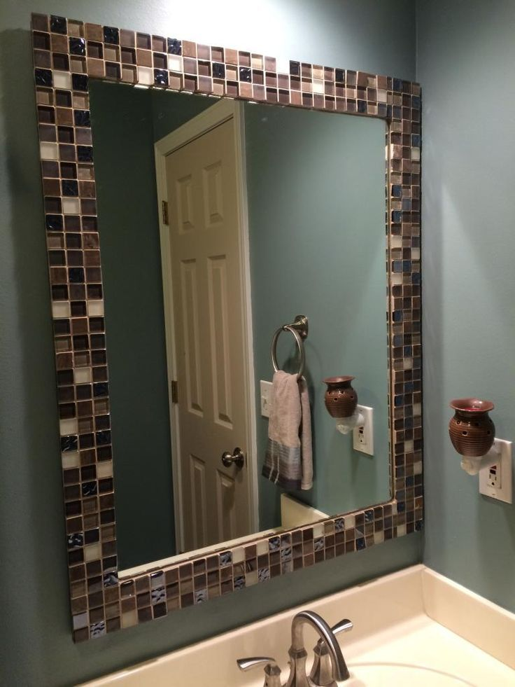 Diy Bathroom Mirror Makeover