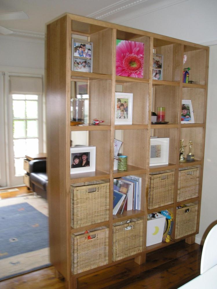 Diy Bookshelf Room Divider