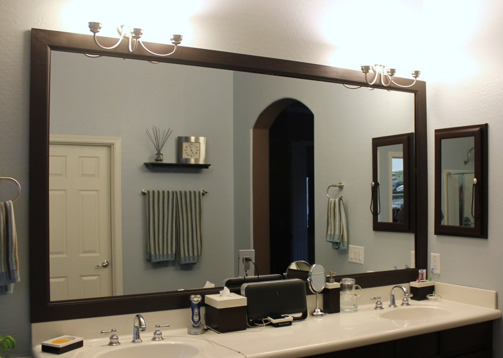 Diy Framed Mirror Bathroom