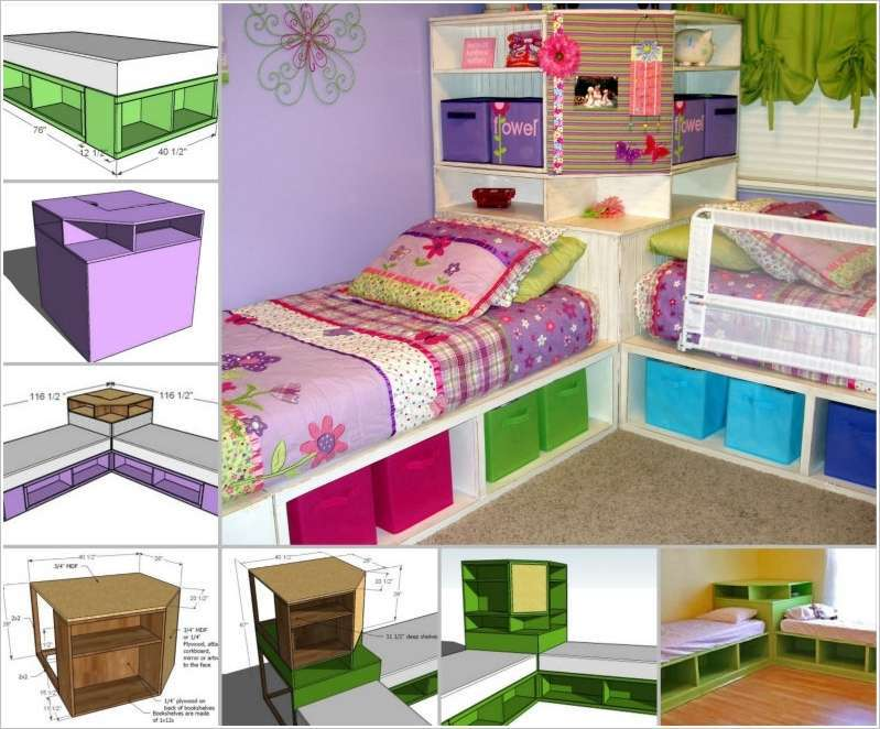Diy Kids Bed With Storage