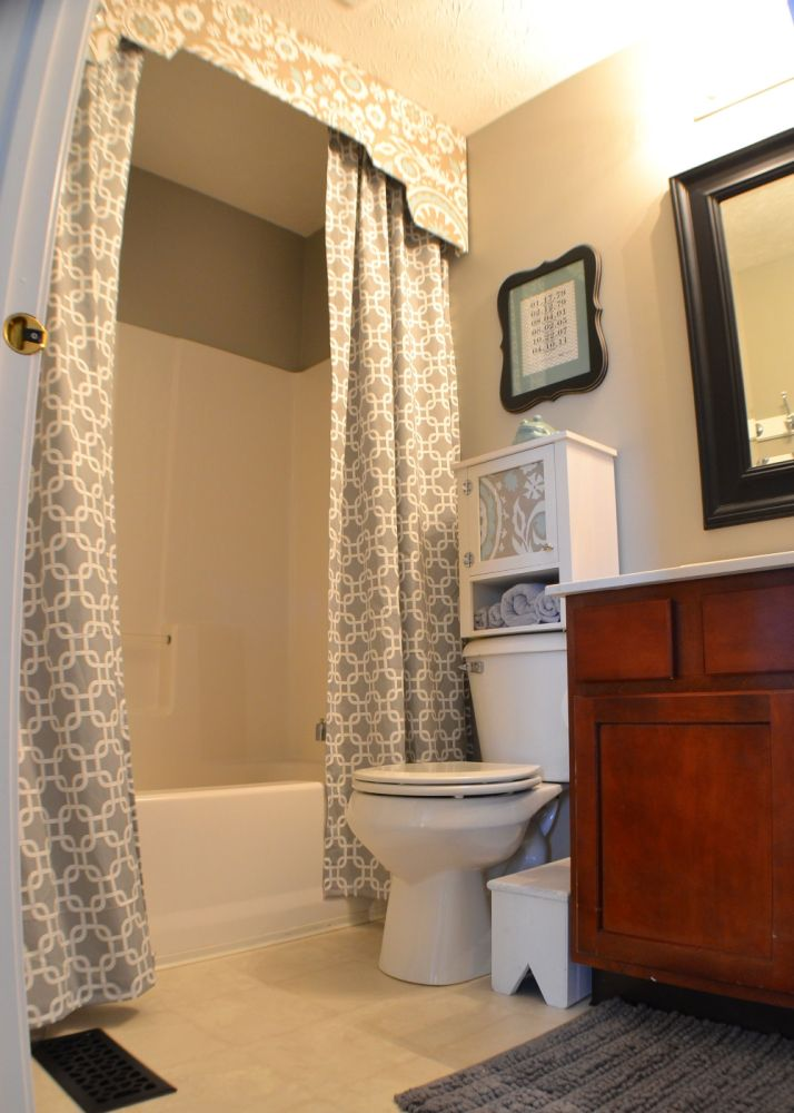 Diy Shower Curtain With Valance