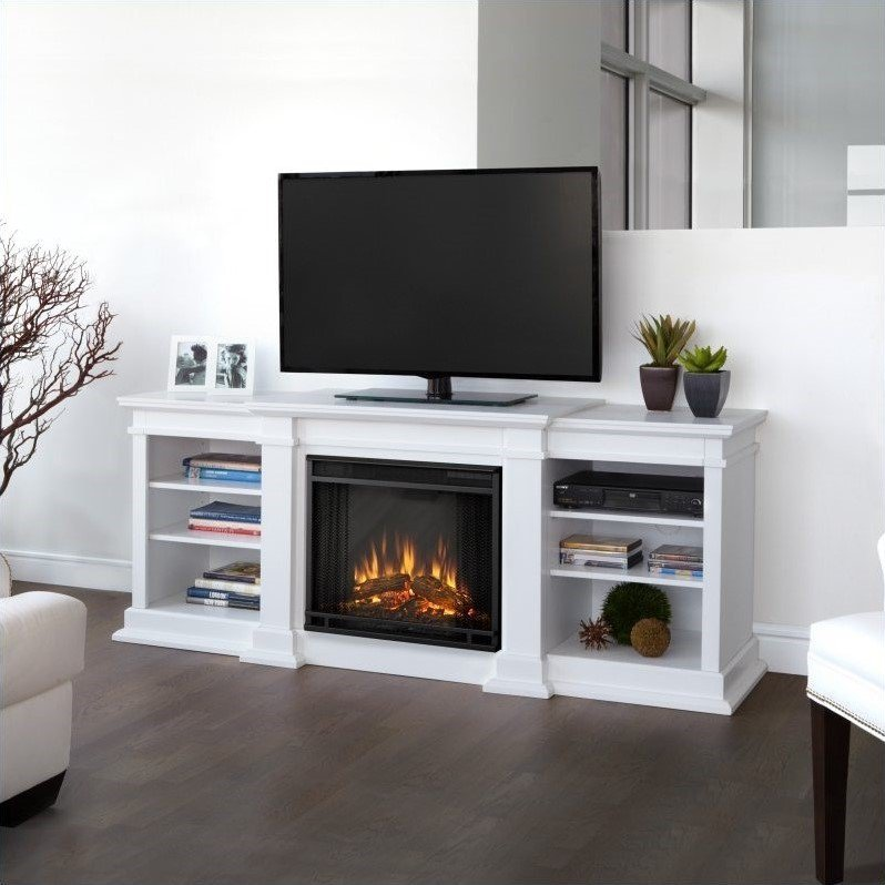Electric Fireplace Tv Stand White