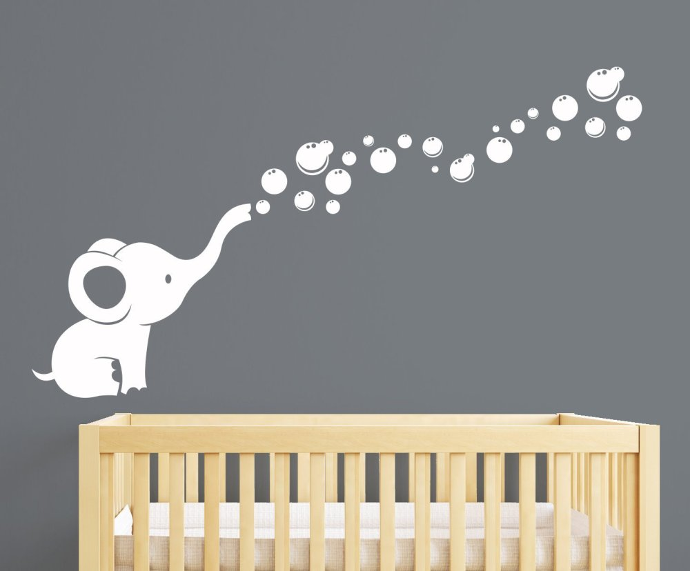 Elephant Wall Decals For Nursery