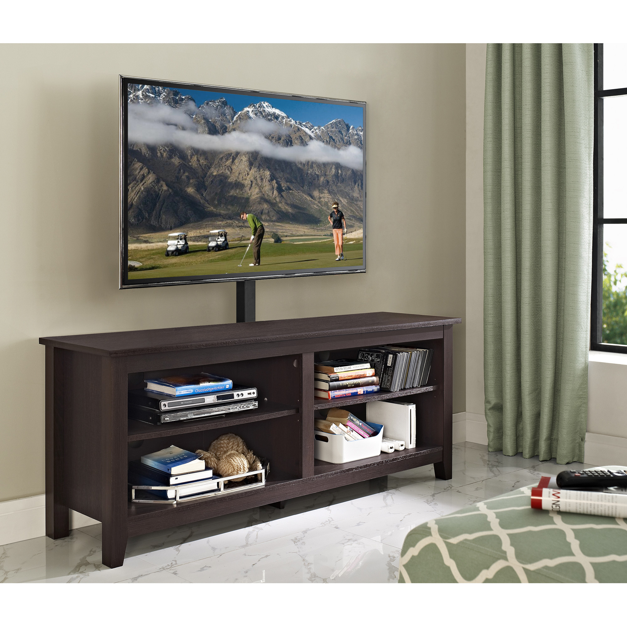 Espresso Tv Stand With Mount