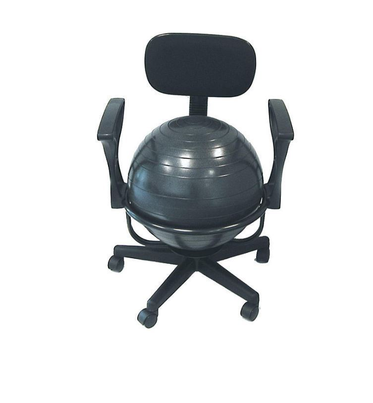 Exercise Ball Office Chair Workout