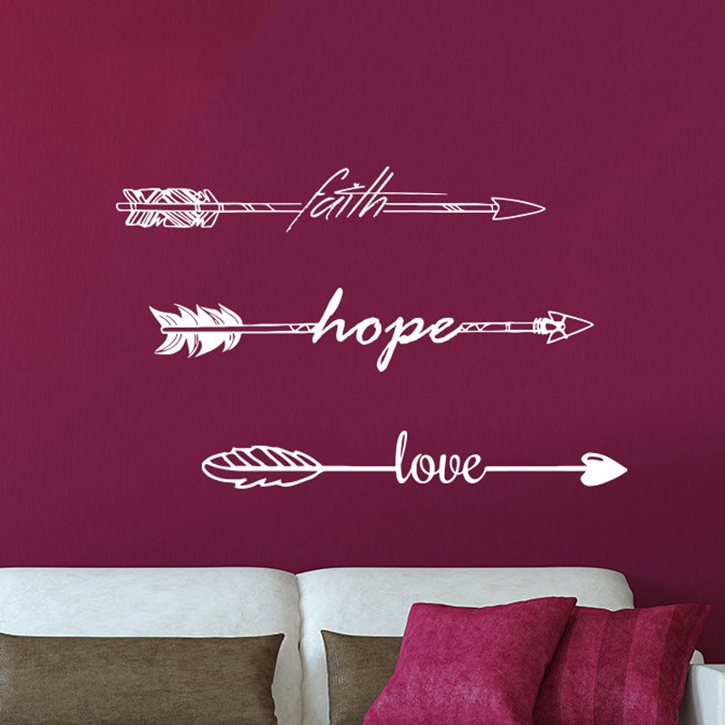 Faith Hope Love Wall Decals