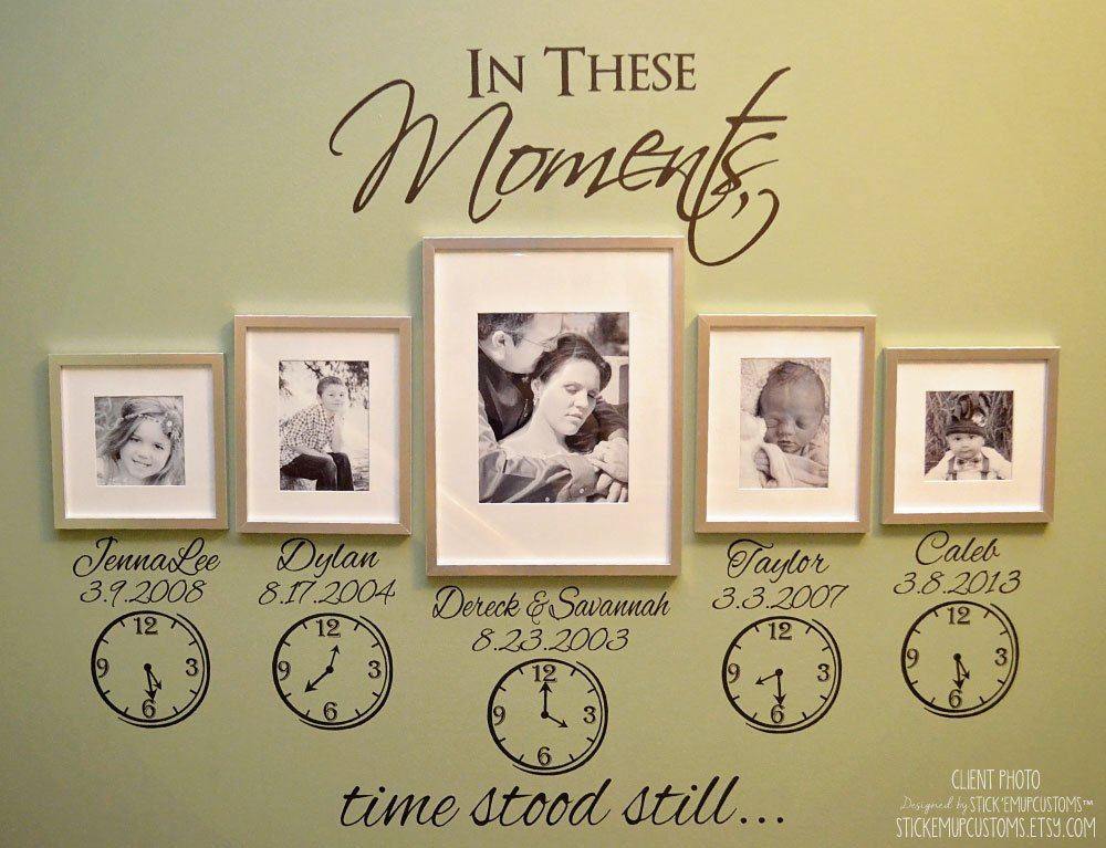 Family Clock Wall Decal
