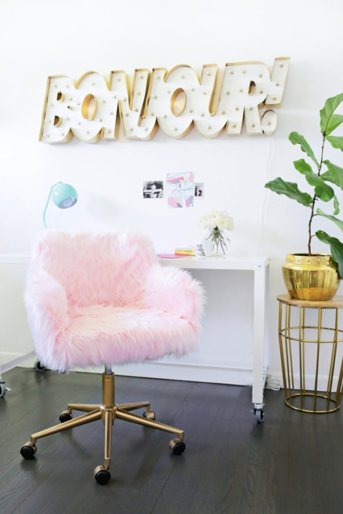 Faux Fur Office Chair