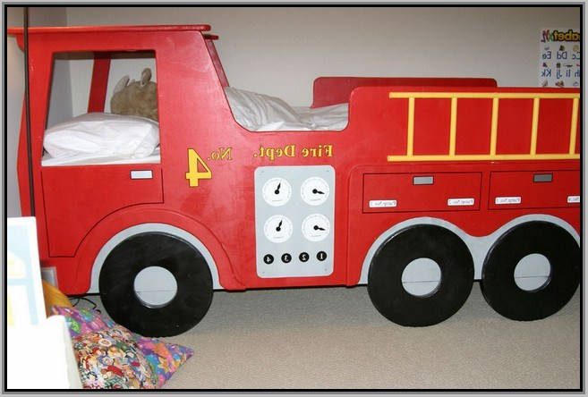 Fire Truck Kids Bed
