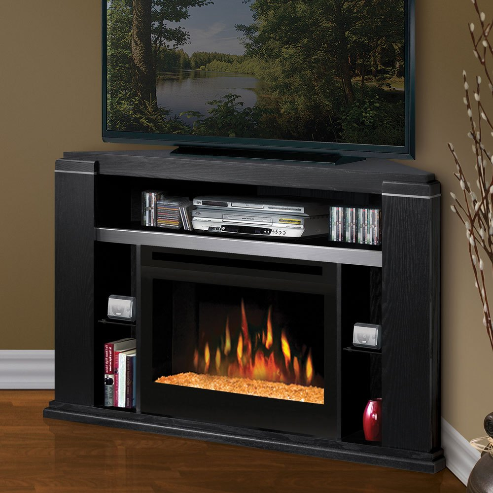Fireplace Tv Stand Black