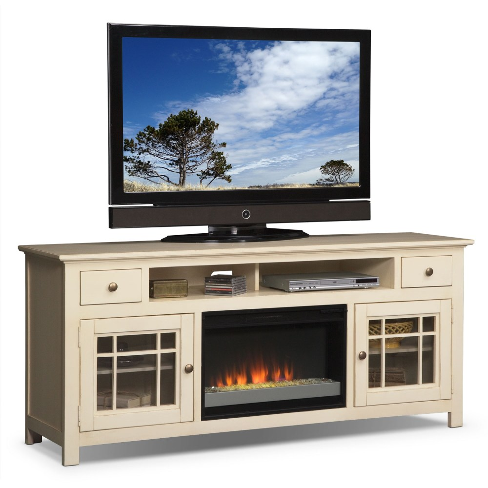 Fireplace Tv Stand White